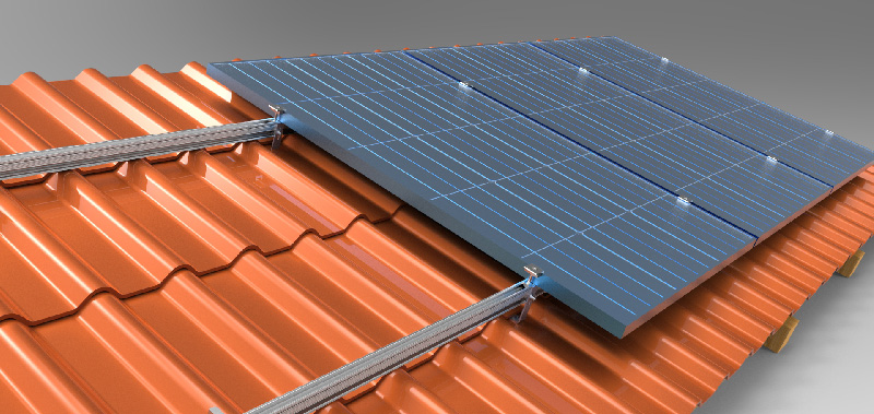 well-used solar structure for roof tile